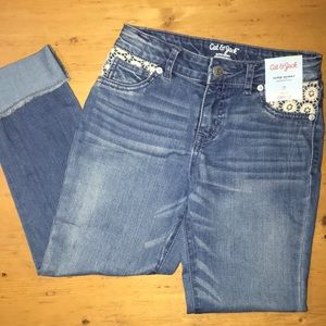 Cat & Jack super skinny cropped jeans 12